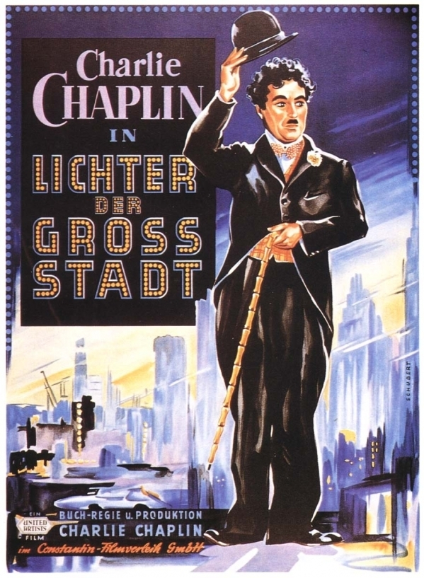 Alternative German poster for City Lights (or Lichter der Gross Stadt)